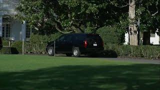مشاهد لموكب الرئيس ترامب مغادراً البيت الأبيض