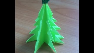 Поделки к Новому Году из Бумаги. Как Сделать Елку Своими Руками за 6 минут. Christmas Tree(К новому году можно сделать очень много разных поделок из бумаги. Сегодня покажу и расскажу, как просто..., 2014-11-24T19:56:09.000Z)
