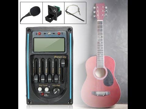 Part 2. Детальный процесс установки(а) пяти-полосного эквалайзера на акустическую гитару