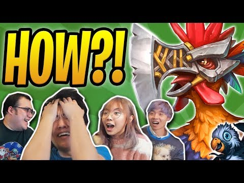 PLAY GURUBASHI CHICKEN, WIN THE GAME? | Penguin Sabotage /w LilyPichu, Scarra | Rastakhan OTK Hunter