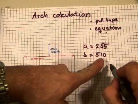 Arch calculation for layout (find radius, given span and depth of arch)