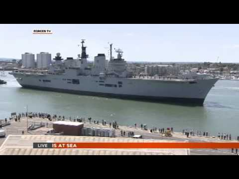 We Watch HMS Illustrious Return Home to Portsmouth 22.07.14