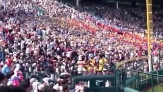 済美高校アルプス応援席 「あまちゃん」で同点!