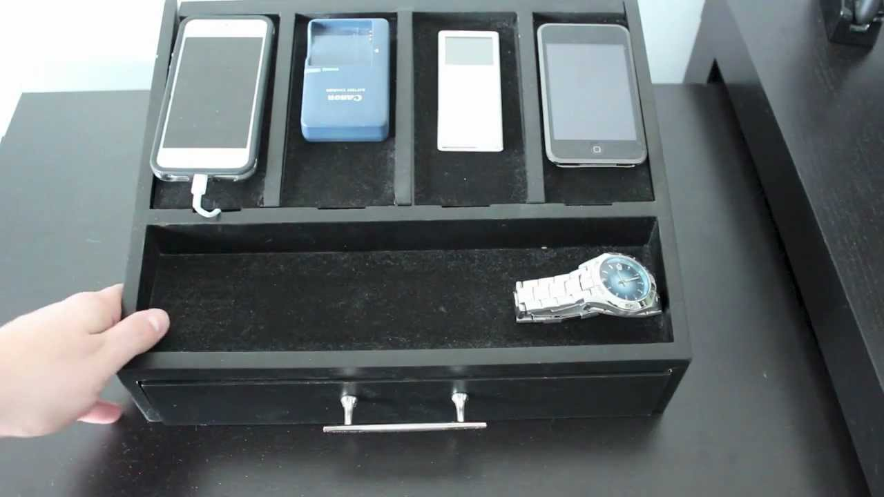 Best Charging Station Organizer - iPhone, Cell Phones and Electronics -  YouTube