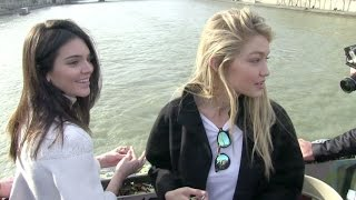EXCLUSIVE - Kendall Jenner and BFF Gigi Hadid seal their friendship on the Pont des Arts in Paris