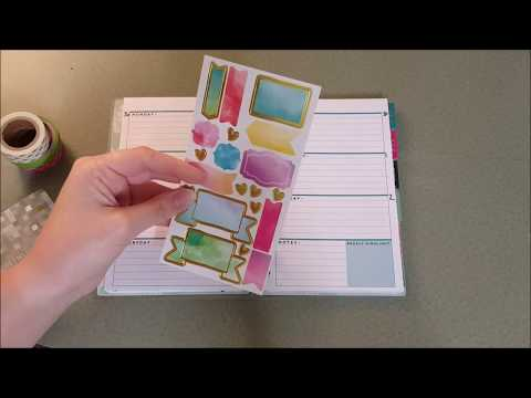 Mega-Chatty Mini Happy Planner Plan with Me // Rainbow Watercolor Stickers