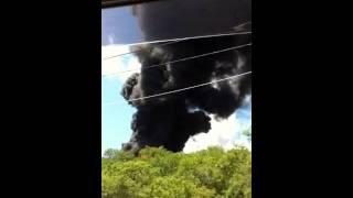 Форос Пожар 23 июля 2011(Это видео предоставил случайный свидетель, ехавший на отдых в Форос: