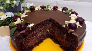 РЕЦЕПТ ТОРТА ОТ МАРИНЫТОРТ ПЬЯНАЯ ВИШНЯ Cake DrunkCHOCOLATE CAKE RECIPE. NataLife