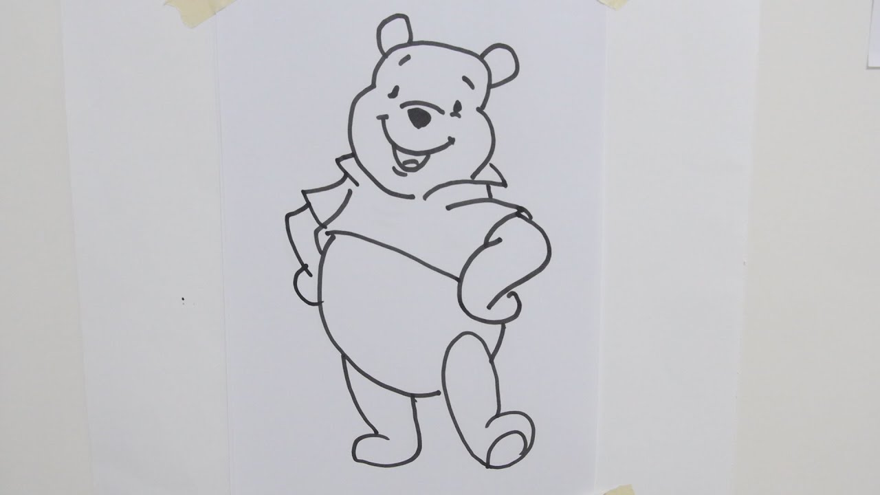 Uncategorized Winnie The Pooh Drawings how to draw winnie pooh disney youtube disney