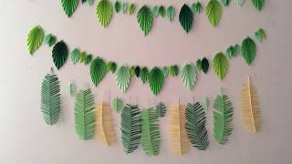 🍀 Wall decor 🍀 Tropical DIY 🍀 Paper craft. Origami🍀