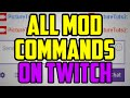 Twitch Moderator Tutorial - ALL Mod Commands On Twitch TV (delete messages, ban, unban, clear chat)