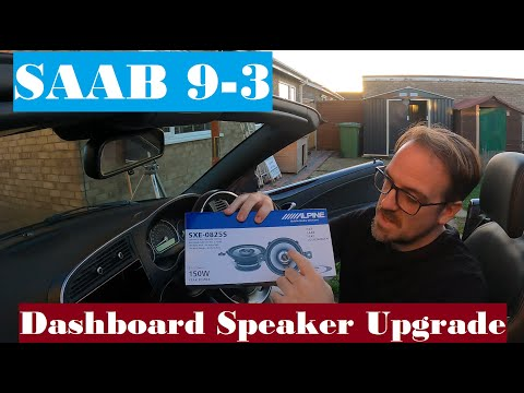 Saab 9-3 Dashboard Speaker Upgrade – Remove, Swap, Replace