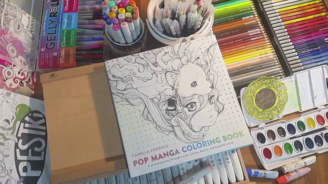 pop manga coloring book a silent flip through by sls youtube - Manga Coloring Book