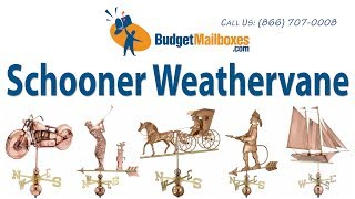 Budgetmailboxes.com | Good Directions 9601p Schooner Weathervane - Polished Copper