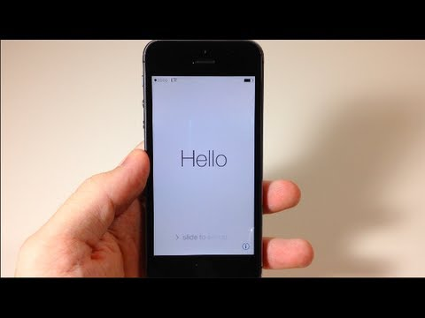 How to Set Up your new iPhone 5s