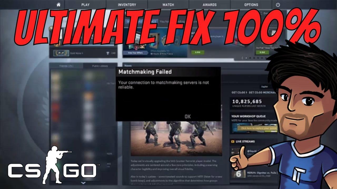 Cs go matchmaking failed to connect to match, couples having hardcore sex