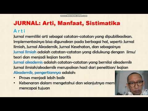Jurnal Ilmiah Arti Manfaat Dan Sistimatika Dr Ir Edwin Sujono Sip Msi Youtube