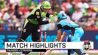 Thunder too good for the Strikers | KFC BBL|08