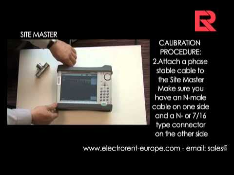 How to video: How to calibrate a sitemaster- calibration D? | Electro Rent Europe