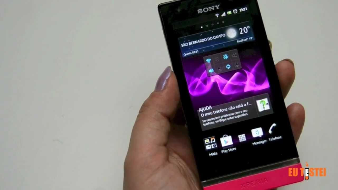 smartphone sony xperia u st25a resenha brasil youtube rh youtube com Xperia U White Sony Xperia U ST25a BW
