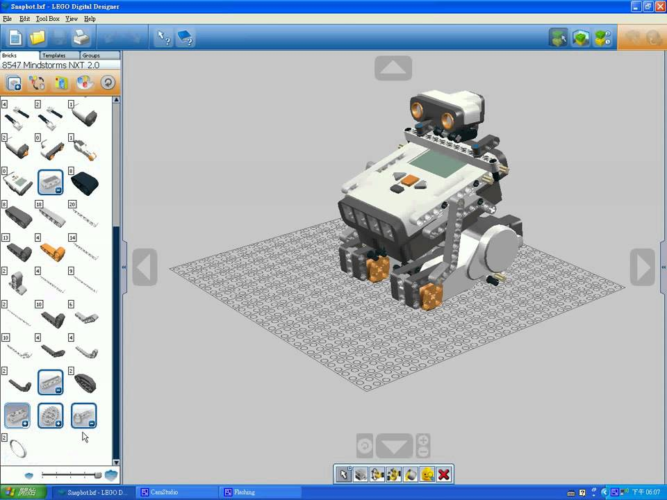 Lego digital designer for lego mindstorms nxt 8547 youtube for Digital blueprint maker