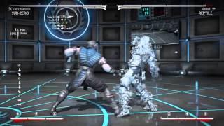 Mortal Kombat X: EASY Sub-Zero (Cryomancer) Combos 16%-34%