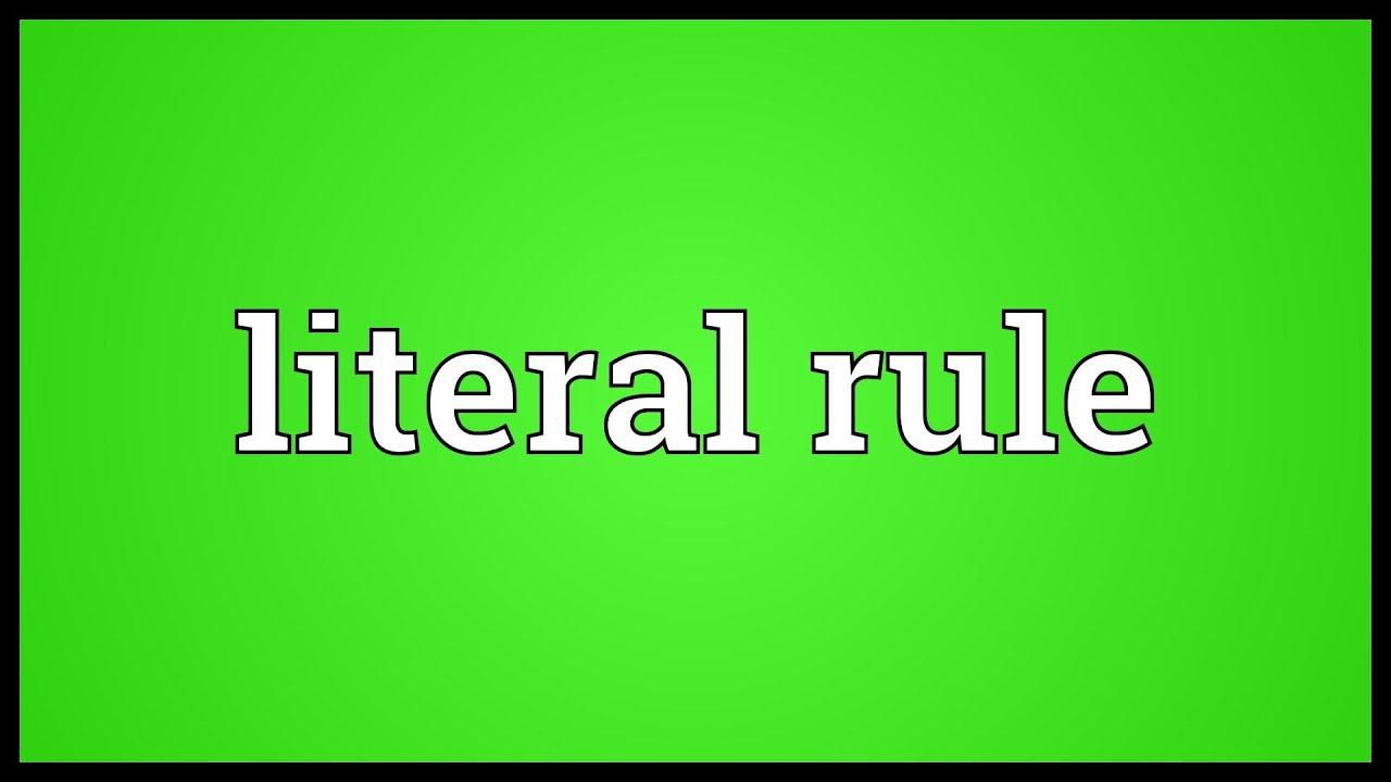 literal rule