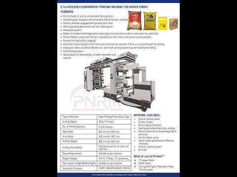 PP WOVEN SIX COLOUR FLEXOGRAPHIC PRINTING MACHINE(PNRM) INDIA