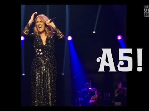 Céline Dion - Belting A5-C6 in All By Myself (24/9/2016) IMPRESSIVE