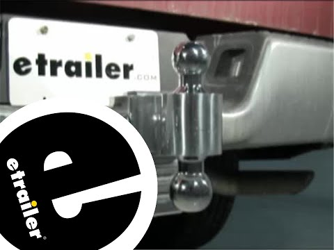 Rapid Hitch Adjustable Ball Mount Kit with 3-1/2 Inch Drop and Chrome Balls Review - etrailer.com