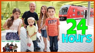 24 Hours In A Train Station / That YouTub3 Family