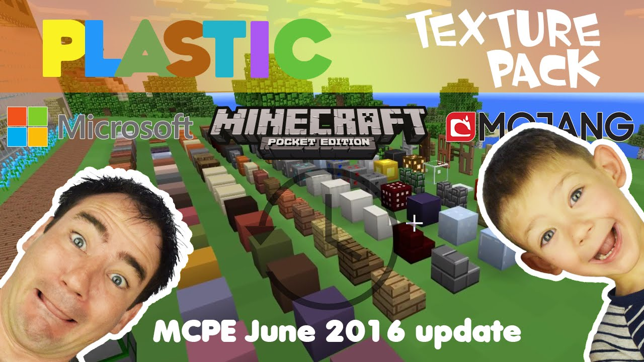 MCPE Plastic Texture Pack - YouTube