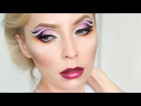 Нейтральный вечерний макияж глаз с блестками: видео-урок