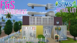The Sims 4 | F&S Restaurant Retail Lot