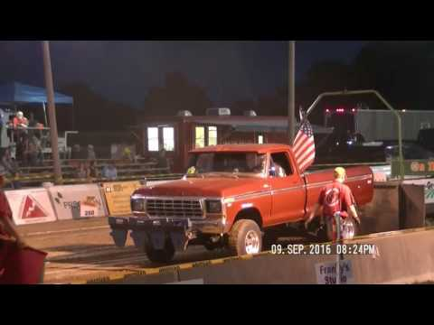 4X4 ALTERED GAS TRUCKS LYNN, INDIANA LYONS CLUB PULL DCTPA SEPT 9, 2016
