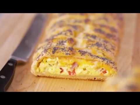Grands!™ Crescents Ham And Egg Breakfast Braid   Pillsbury Recipe