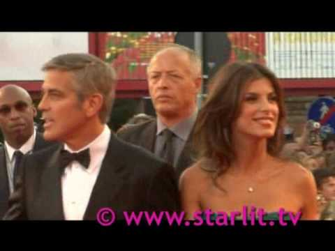George Clooney and Elisabetta together at venice Film festival