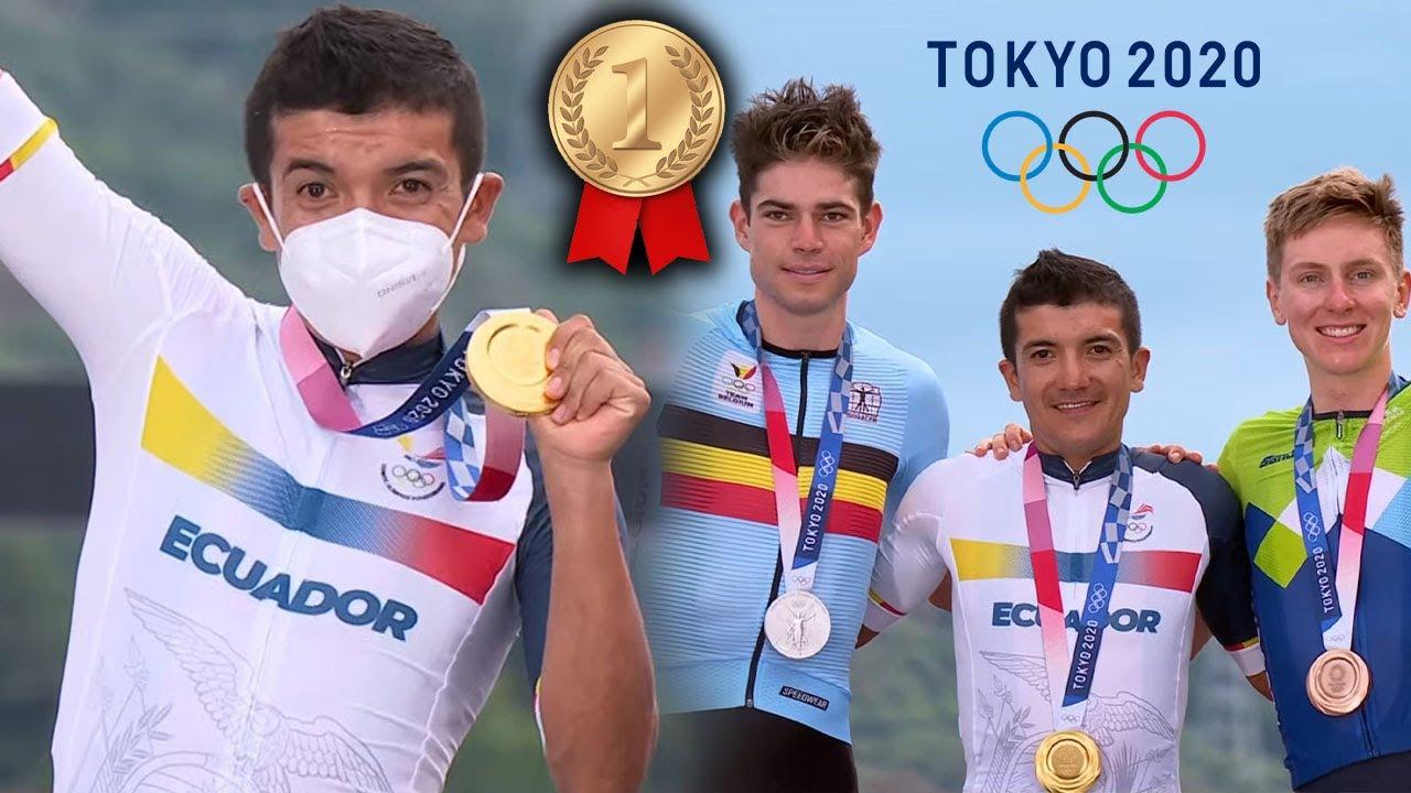 (HISTÓRICO) RICHARD CARAPAZ GANADOR DE LA MEDALLA DE ORO EN CICLISMO #TOKYO2020 #JUEGOSOLÍMPICOS