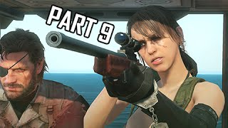 Metal Gear Solid 5 The Phantom Pain Walkthrough Part 9 - Quiet Sniper Battle (MGS5 Let
