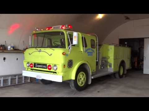 1979 Superior Fire Engine! and Brush Truck at Mid-River Fire Department