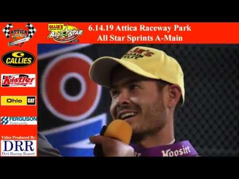 6.14.19 Attica Raceway Park All Star Sprints A-Main