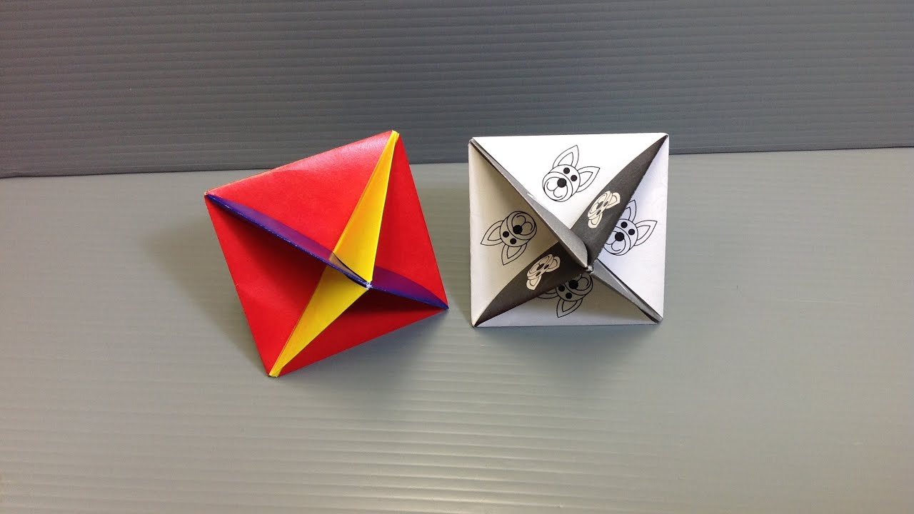 Print and Make Your Own Action Origami Spinning Top! - YouTube - photo#3