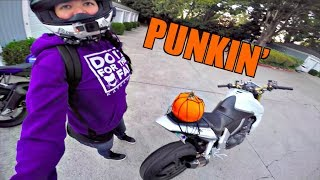 PUMPKIN HAUL ON MOTORCYCLES Video