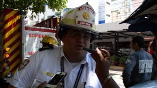 El capitán José Chahín, explica lo que paso en el edificio Nabusimake
