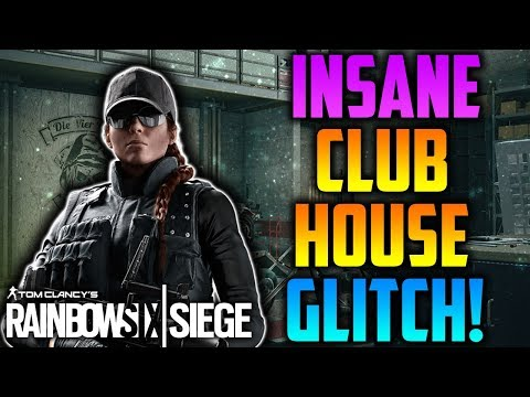 INSANE *OP* SEE THROUGH WALL GLITCH ON CLUBHOUSE! *INVISIBLE SPOT* (AFTER PATCH) - Rainbow Six Siege