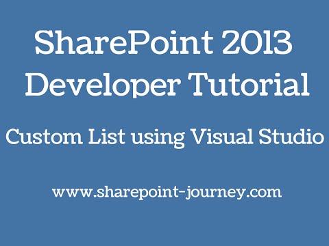 SharePoint 2013: SharePoint List Using Visual Studio 2012 | SharePoint-Journey.com