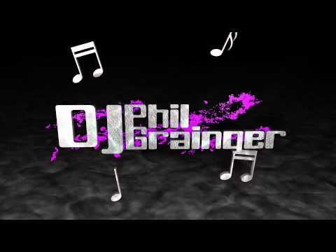 DJ Logo with spinning musical notes