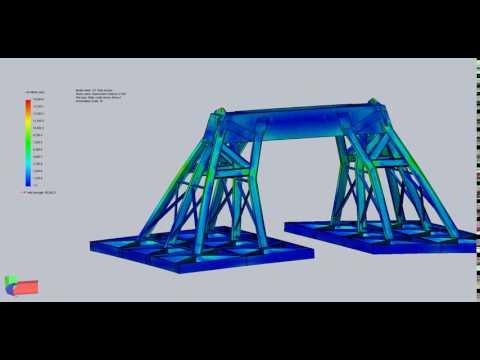 Chevron Jack St. Malo Pipe Lift Frame - 2g Dynamic Amplification Factor Testing