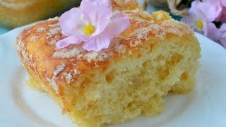 простой дрожжевой пирог, сахарный!