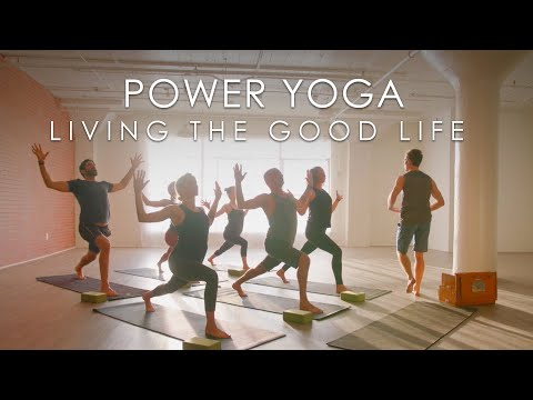 """60min. Power Yoga """"Living the Good Life"""" Class with Travis Eliot - Inner Dimension TV"""